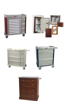 Harloff medical carts, cabinets and bins