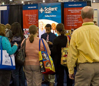 Soliant Health Pharmacy Staffing Trade Show Booth