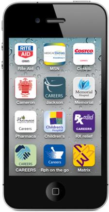 Mobile Job Search App Logo Development
